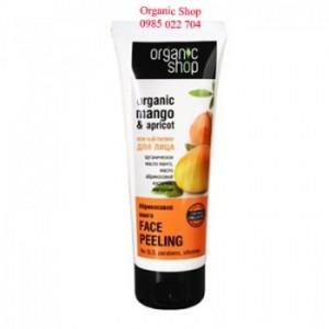 Kem tẩy da chết cho mặt Organic Shop chiết xuất xoài - 75ml