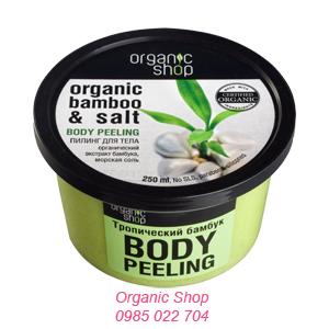 Kem tẩy da chết toàn thân chiết suất tre hữu cơ và muối biển Organic shop sẽ mang lại cho cơ thể một sự tươi mát bất ngờ và tăng độ đàn hồi cho làn da bạn.