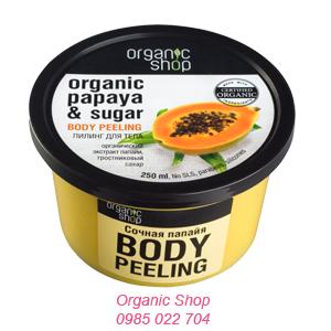 Kem tẩy da chết vị đu đủ Organic Shop cho body