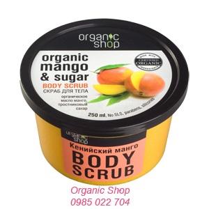 Kem tẩy da chết body scrub xuất xoài Organic Shop