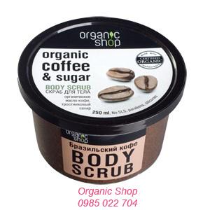 Kem tẩy da chết body vị cà phê Ogranic Shop