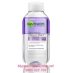 Nước tẩy trang vùng mắt Garnier 2 in1 làm dày lông mi