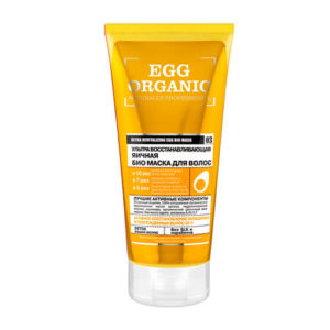 Ủ tóc chiết xuất trứng Organic Shop phục hồi tóc hư tổn, nuôi dưỡng tóc bị suy yếu và cung cấp bảo vệ chống lại nhiệt năng bên ngoàivà tia cực tím.
