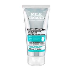 Ủ tóc Organic Shop chiết xuất Sữa Organic chứa protein 3D-sữa nuôi dưỡng sâu, làm cho tóc khỏe và cứng cáp.làm cho tóc mượt mà và dễ quản lý.