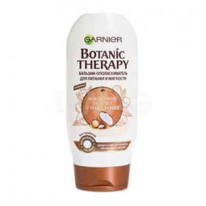 dau xa garnier tinh chat sua dua va dau hat macadamia Dầu xả Garnier Botanic Therapy tinh chất dừa và dầu hạt macadamia chăm sóc tóc hiệu quả