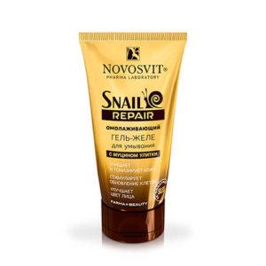 sua rua mat novosvit oc sen nga Sữa rửa mặt Novosvit Ốc sên rửa sạch và tái tạo làn da