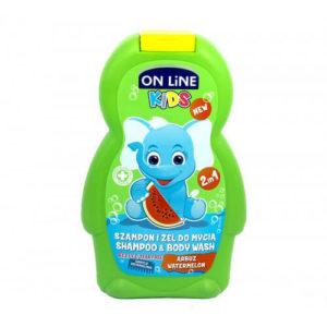 sua tam goi tre em huong dua hau on line kids Sữa tắm gội trẻ em hương dưa hấu On Line Kids 2in1
