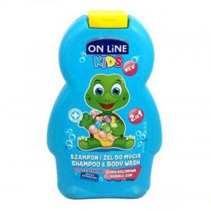 sua tam goi tre em mui keo gum on line kids Sữa tắm gội trẻ em mùi kẹo Gum On Line Kids 2in1