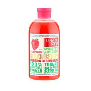 sua tam organic shop huong dau Sữa tắm Organic Shop hương dâu tây ngọt ngào