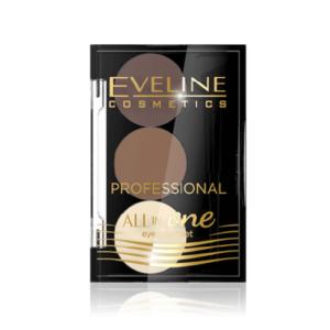 bot tan long may eveline professional one in one Bộ bột tán lông mày Eveline Professional All in One tán đều và giữ màu lông mày