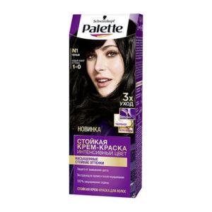nhuom toc palette N1 Kem nhuộm tóc chuyên sâu Schwarzkopf Palette N1 màu đen