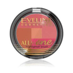phan ma hong eveline cosmetics all in one Phấn má hồng Eveline Cosmetics All in One, bảng màu trong một sản phẩm