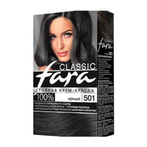 thuoc nhuom fara classic 501 1 Thuốc nhuộm tóc Fara Classic 501 màu đen