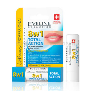son duong eveline 8w1 total action spf 15 boshop Son dưỡng môi Eveline 8in1 Total Action  Nga