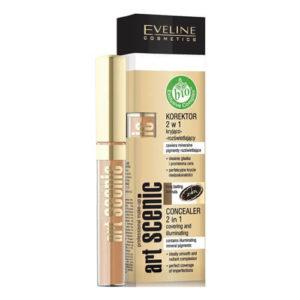 Bút che khuyết điểm Eveline Art Professional make up 2in1 làm sáng da