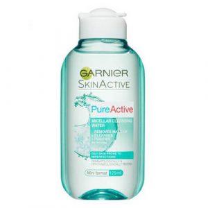 2a74db5cd3dce6125297a8ae80669973d53e8385 1 Nước tẩy trang Garnier Skin Active Pure Active cho da dầu mụn nhờn & da hỗn hợp 125ml