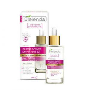 Serum Bielenda Super Power Mezo 5% chống lão hóa, giảm nếp nhăn ( màu hồng)