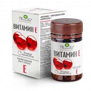 Vitamin E đỏ Mirrolla Nga hàm lượng 270mg