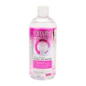 Nước Tẩy Trang Eveline Cosmetics Hyaluronic Micellar Water 3in1 400ml