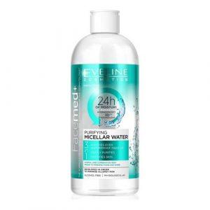 Tẩy trang Eveline Purifying Micellar Water 3in1 cho da dầu nhờn và hỗn hợp - 400ml