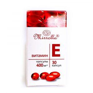Viên uống Vitamin E đỏ 400mg Mirrolla Nga