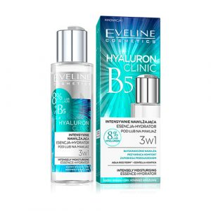 Essence dưỡng da Eveline Hyaluron Clinic B5 & tinh chất rau má Centella phục hồi da, dưỡng ẩm và sáng da