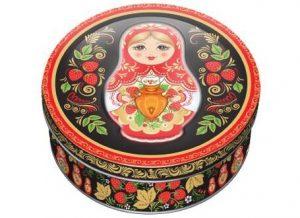 Bánh quy hộp sắt 400g của Nga- bánh quy Monte Christo