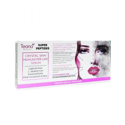 Serum dưỡng ẩm Teana Crystal Skin Super Peptides – 20ml/10 lọ